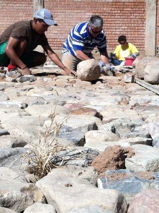 Rock floor
