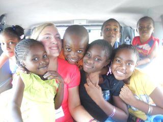 10 kids in van